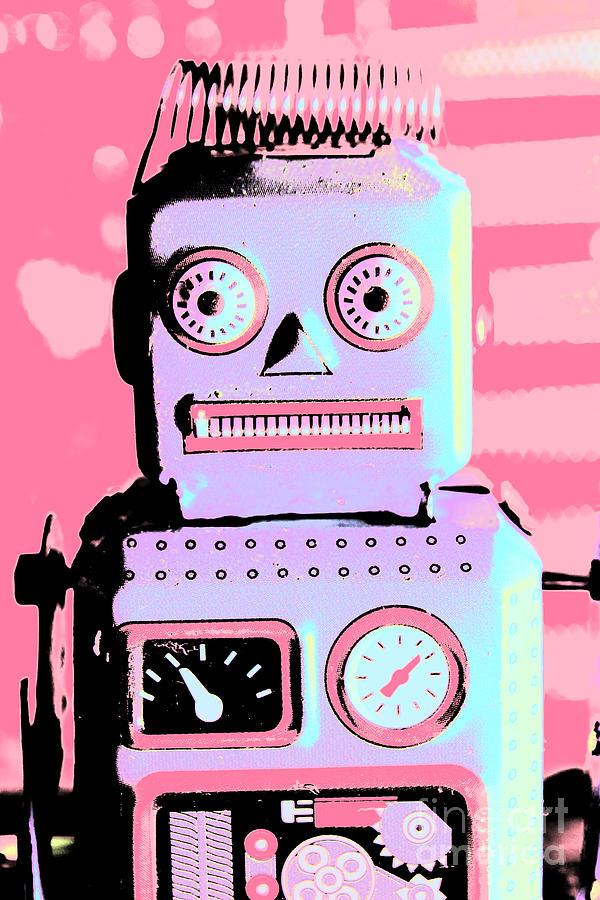 Pop Photograph - Pop Art Poster Robot by Jorgo Photography - Wall Art Gallery