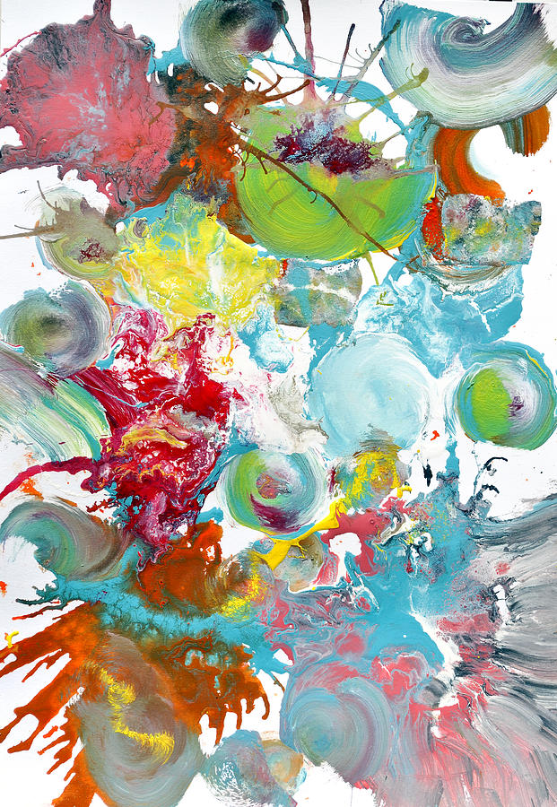 Vibrant Painting - Pop Fluid Series No. 3 by Sumit Mehndiratta