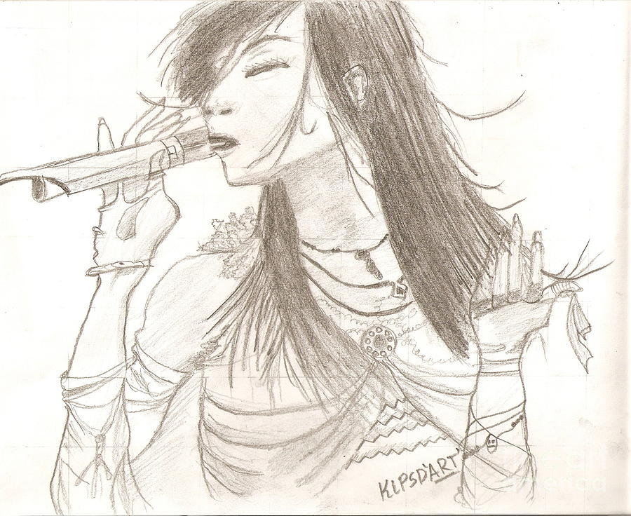 Singer Drawing - Pop Singer by Karthik