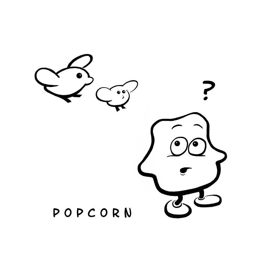 Popcorn Digital Art - Popcorn by Krister Lindberg
