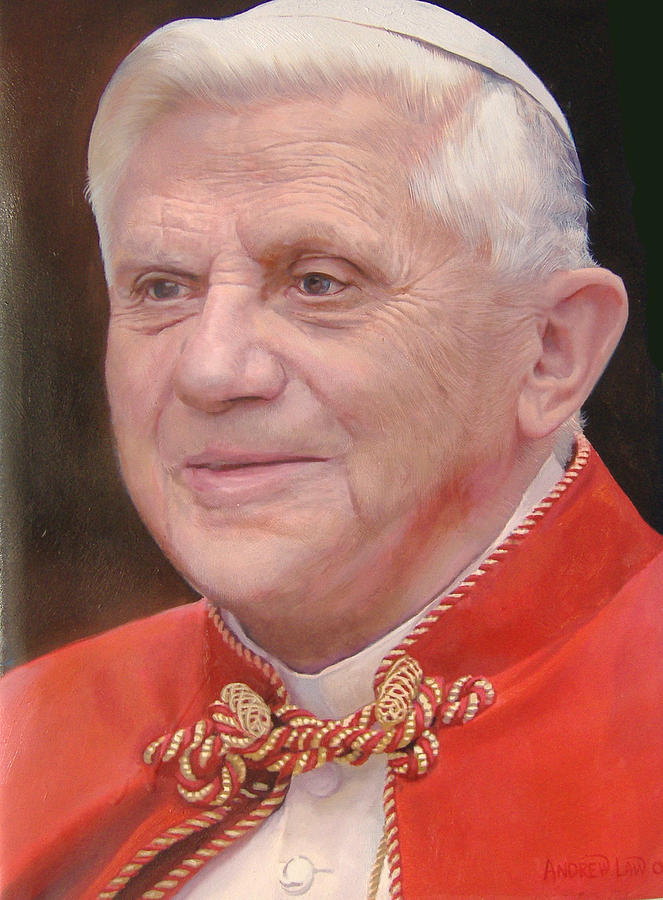 Pope Benedetto Xvi Painting by Law Cheuk Yui