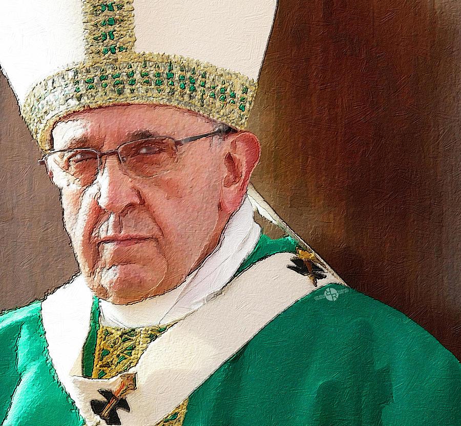 Pope Francis Acrylic Portrait 1 Painting
