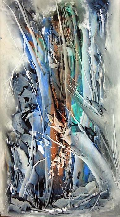 Forest Painting - Poplar2 by Nasrin Kheiri