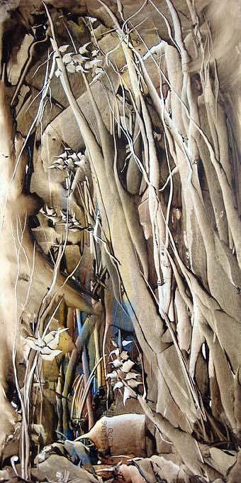 Forest Painting - Poplar4 by Nasrin Kheiri