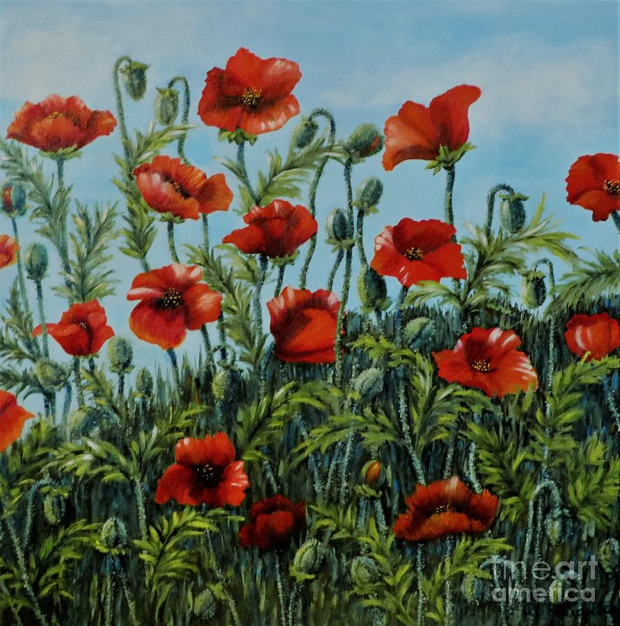 Poppies by Beverly Theriault