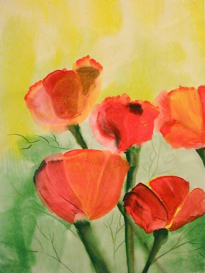 5 Poppies for POETRY OF DAYS by Judy A McNutt by Judy McNutt