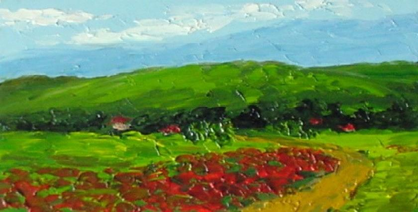 Landscape Painting - Poppies by Fred Wilson
