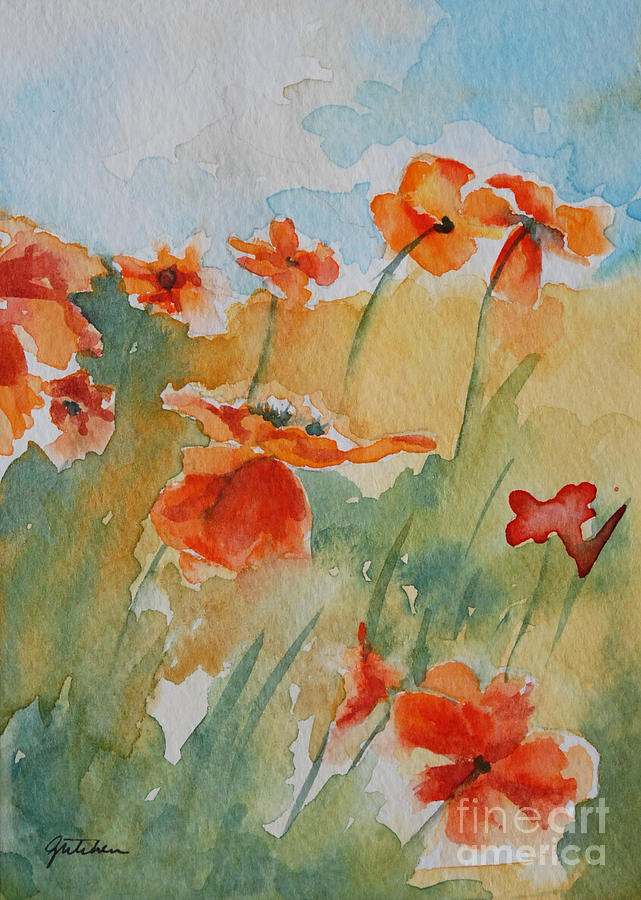 Poppies Painting - Poppies by Gretchen Bjornson