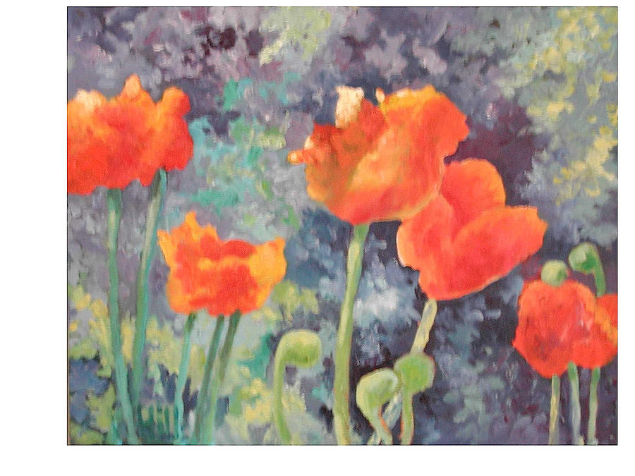Poppy Flowers Painting - Poppies II by Wendy Hill