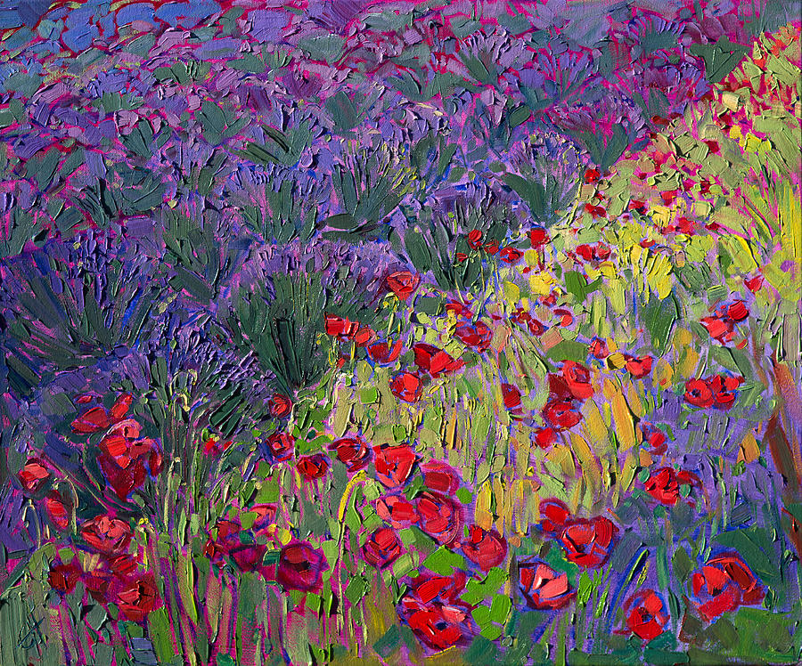 Poppies In Color Painting By Erin Hanson