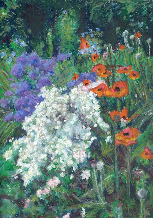 Poppies Pastel - Poppies In June Garden by Judy Adamson