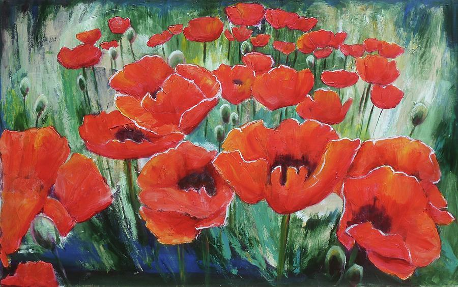 Poppies In June Painting
