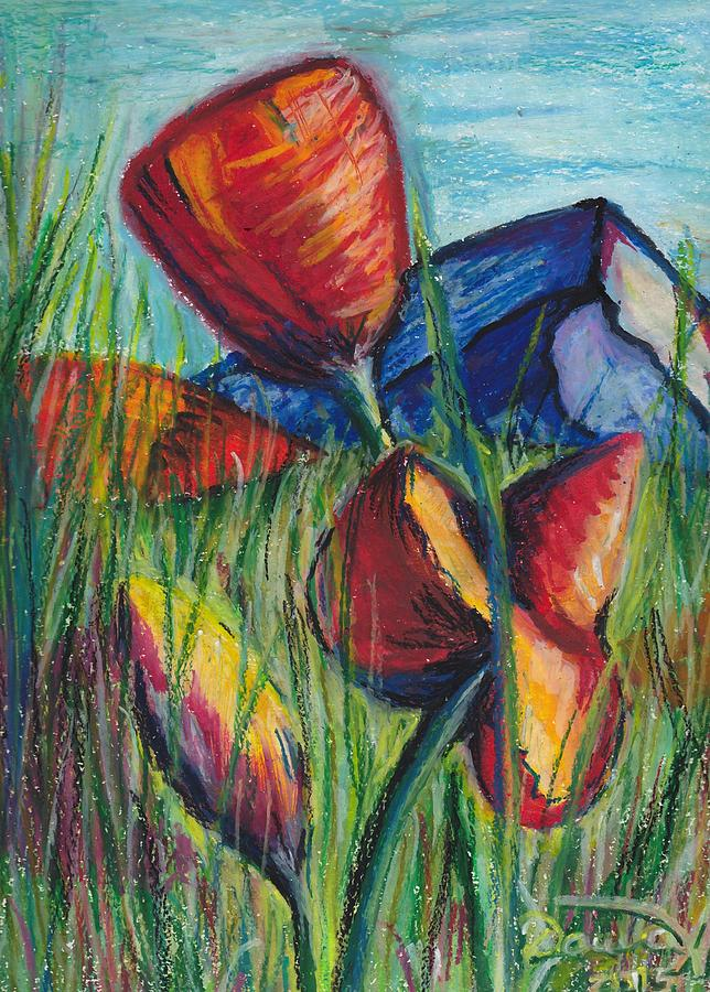 Poppies In The Mountaints Painting