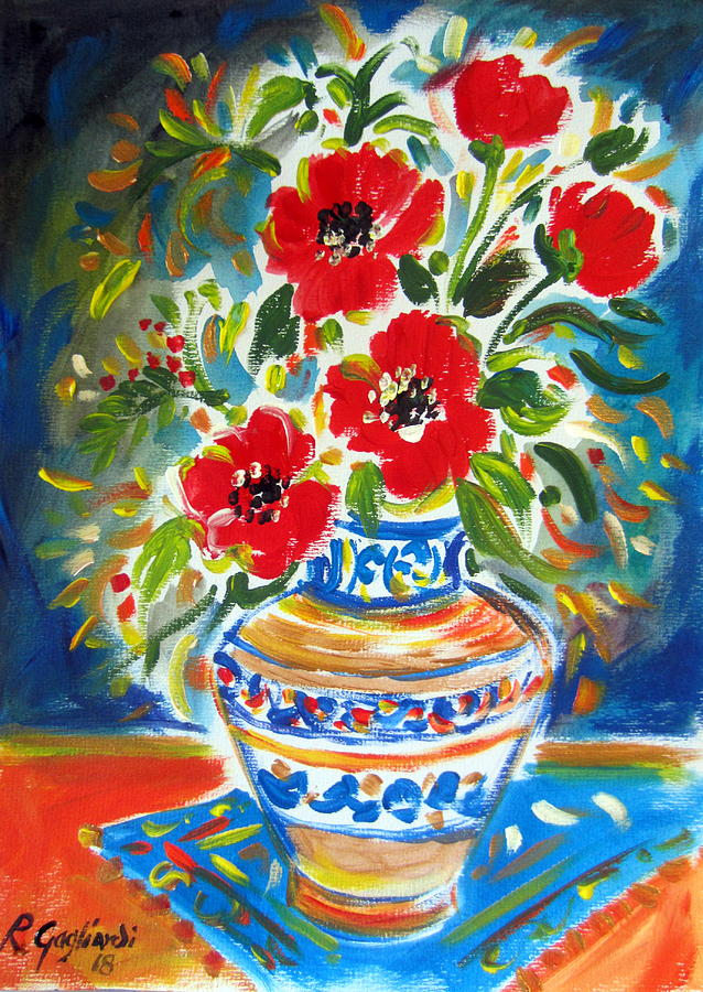 POPPIES in VASE by Roberto Gagliardi