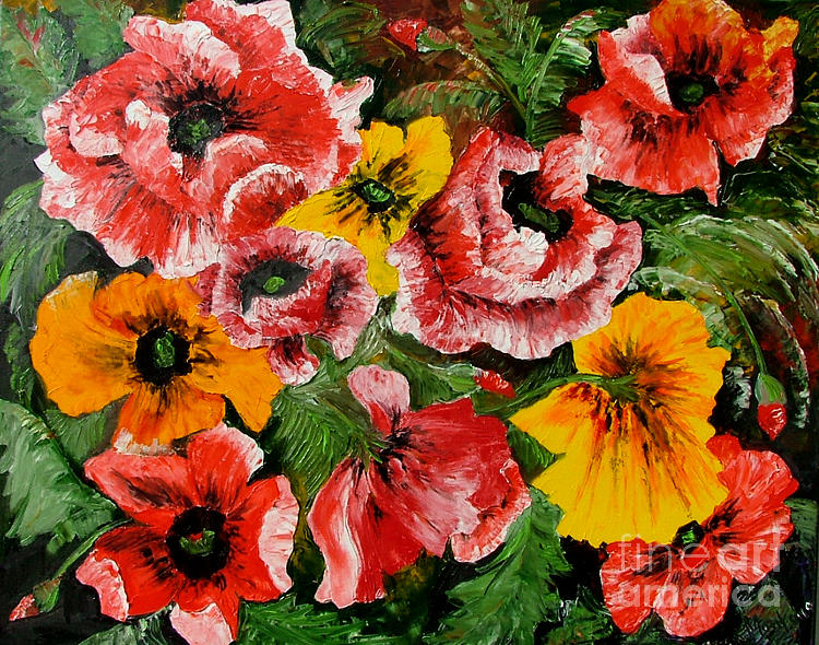 Poppies Painting - Poppies by Inna Montano