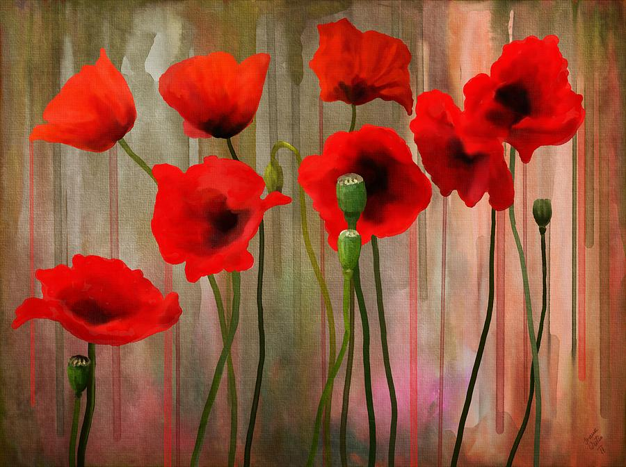 Poppies Painting - Poppies  by Ivana Westin