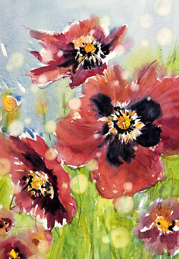 Poppy Painting - Poppies by Judith Levins