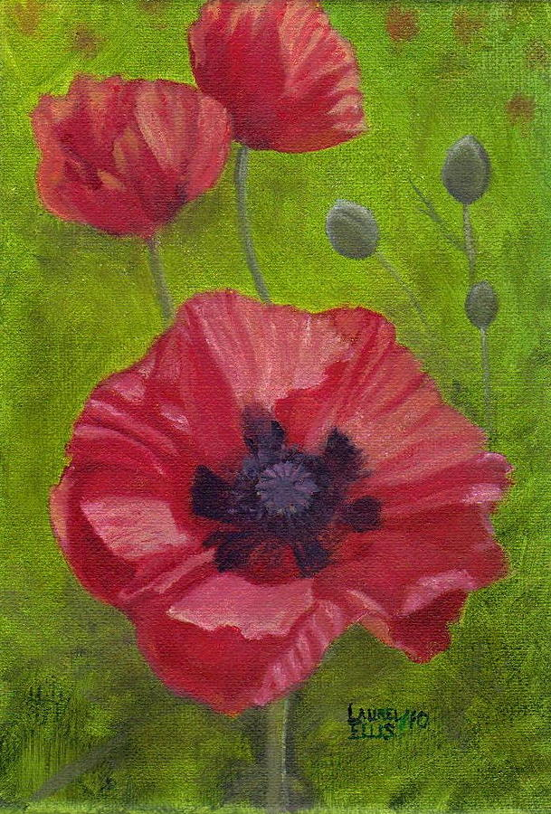 Flowers Painting - Poppies by Laurel Ellis