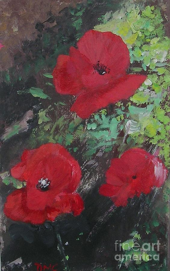 Red Painting - Poppies  by Lizzy Forrester
