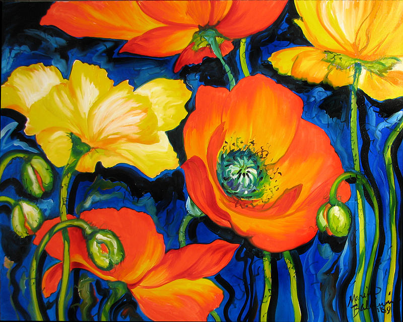 Poppy Painting - Poppies by Marcia Baldwin