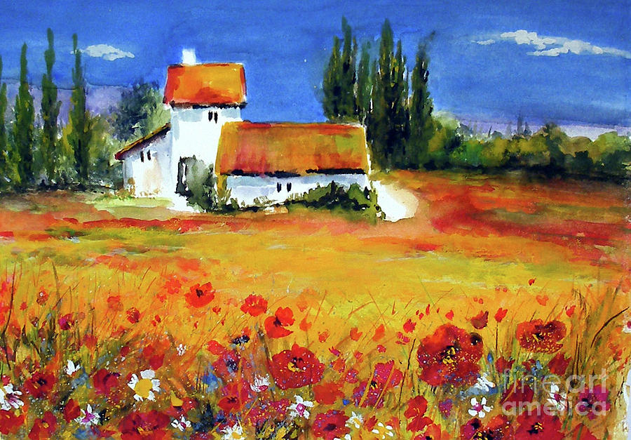 Oil Painting French Provance Landscape