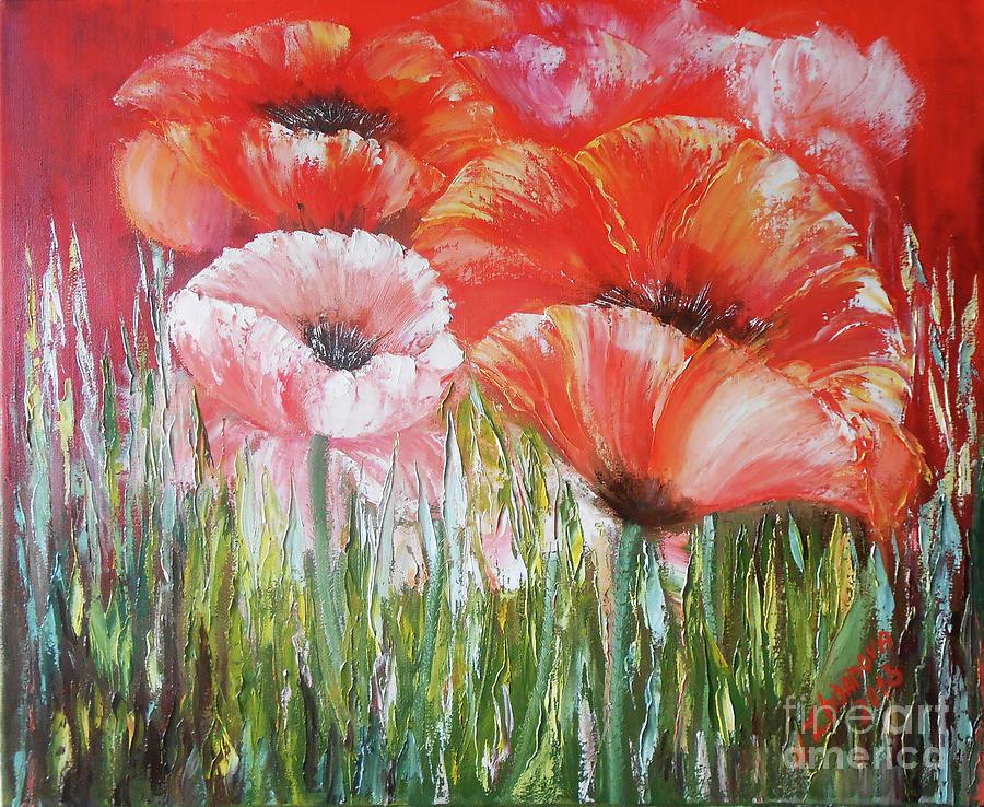 photograph regarding Poppies Printable named Poppies Printable Portray Canvas, Print Crimson Poppies Portray Oil, Bouquets Portray Poppies Artwork Prin