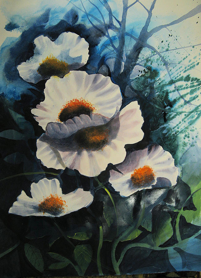 Floral Painting - Poppies by Robert Carver