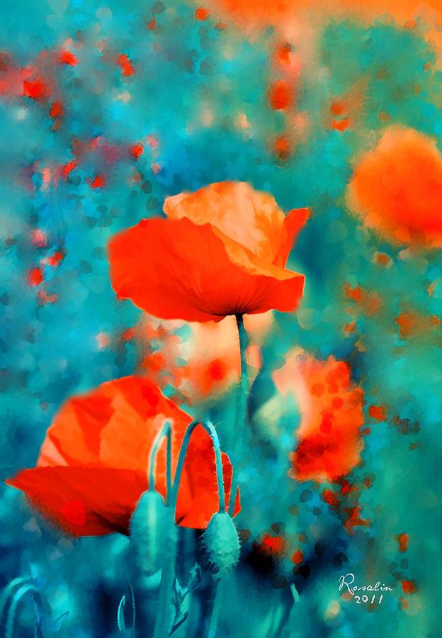 Poppies Painting - Poppies by Rosalina Atanasova