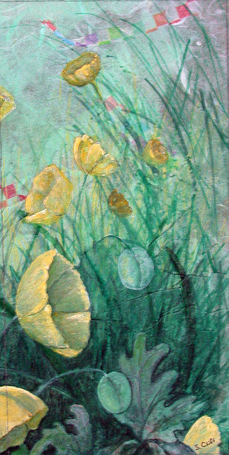 Flowers Painting - Poppies by Sandy Clift