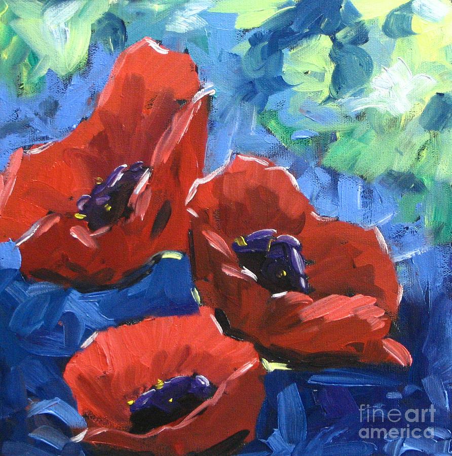 Landscape Painting - Poppies Splender by Richard T Pranke