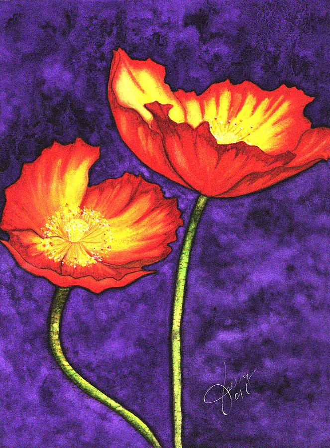 Watercolor Painting - Poppies by Stephanie  Jolley