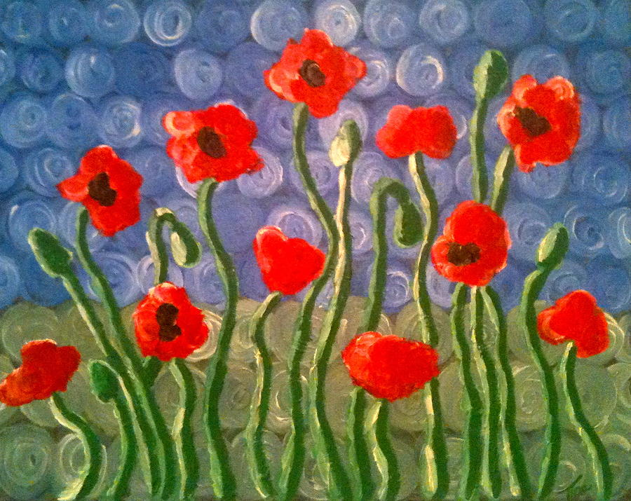 Poppies Painting - Poppies by Tina Hollis