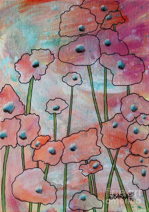 Karla Gerard Painting - Poppies1 by Karla Gerard