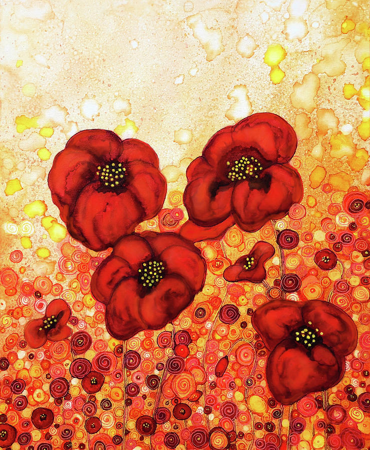 Poppin Poppies Painting By Jennifer Allison