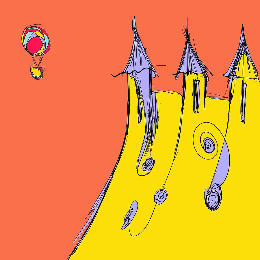 Balloon Drawing - Popping In For A Visit by Jason Nicholas