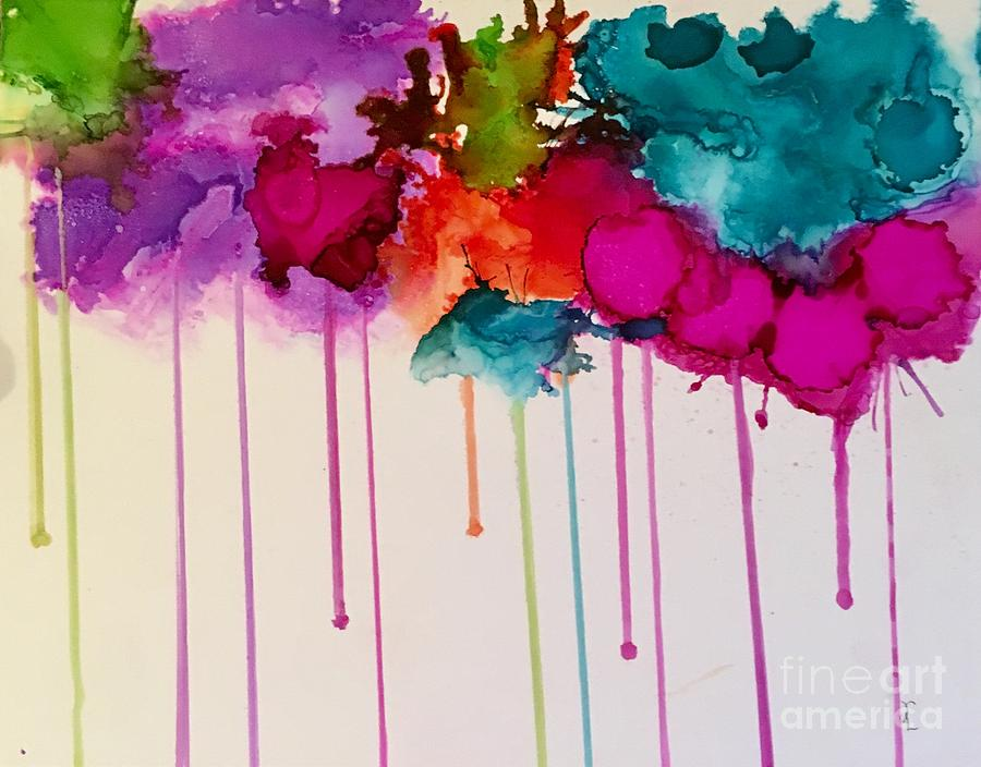 Popping Water Balloons Painting By Robin Lang