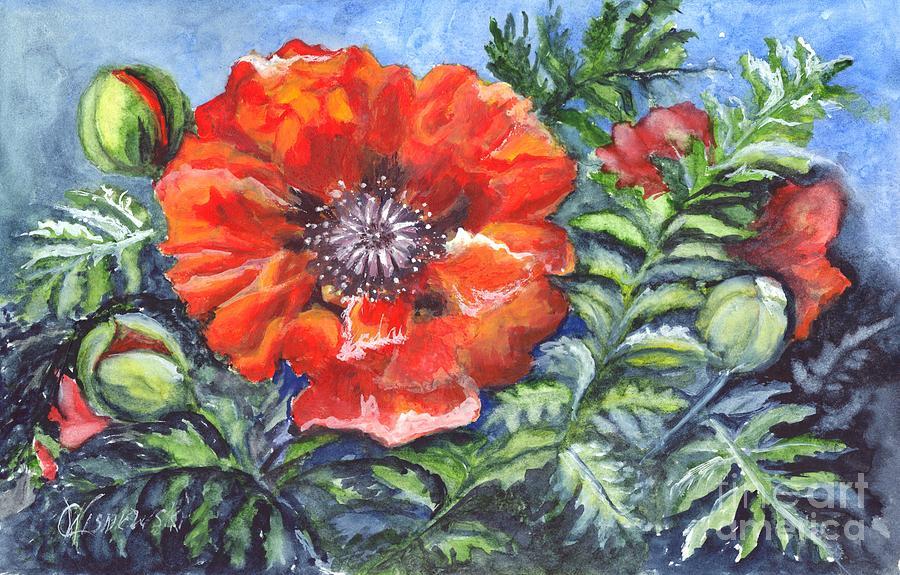 Poppy Painting - Poppy Brilliance by Carol Wisniewski