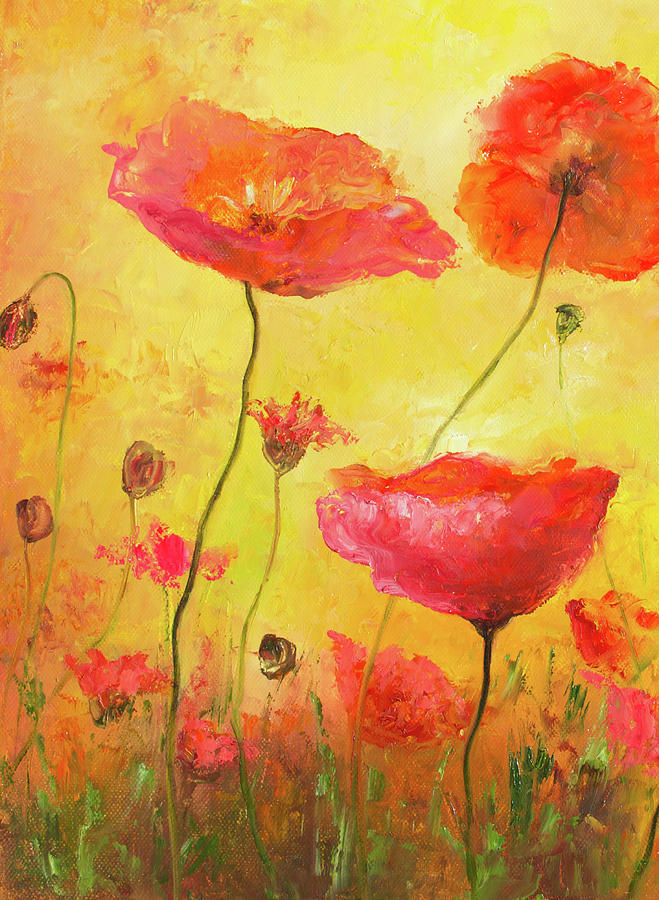 Poppies Painting - Poppy Delight by Jan Matson