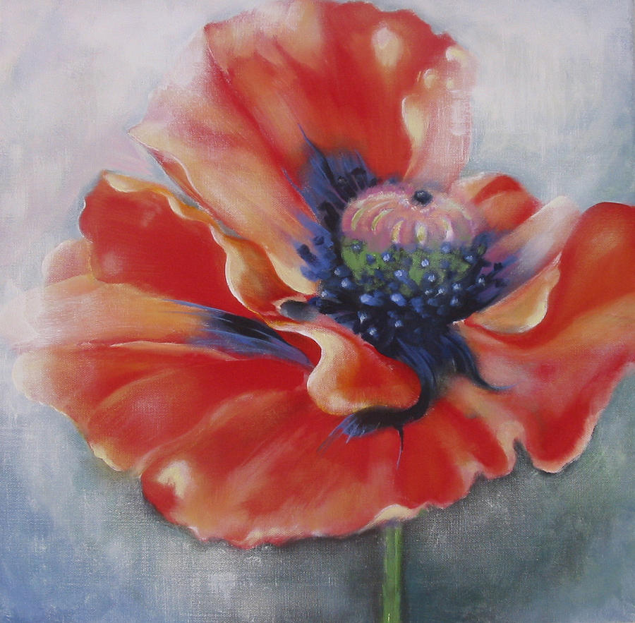 Flower Painting - Poppy by Eve Corin