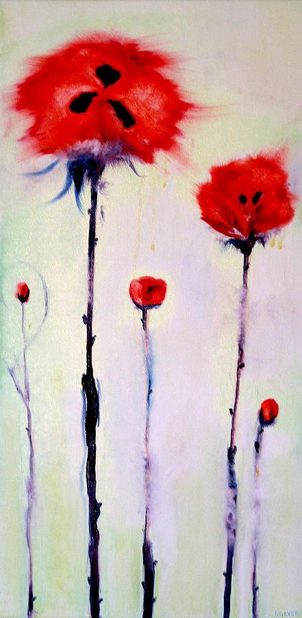 Poppies Painting - Poppy Family by Jenna Fournier