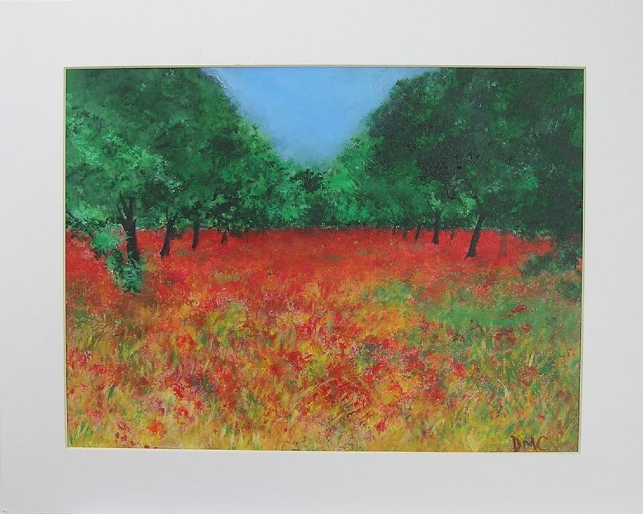 Poppy Painting - Poppy Field In Ibiza by Lizzy Forrester