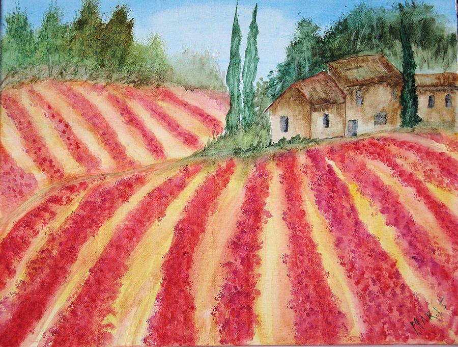 Landscape Painting - Poppy Fields by Maris Sherwood