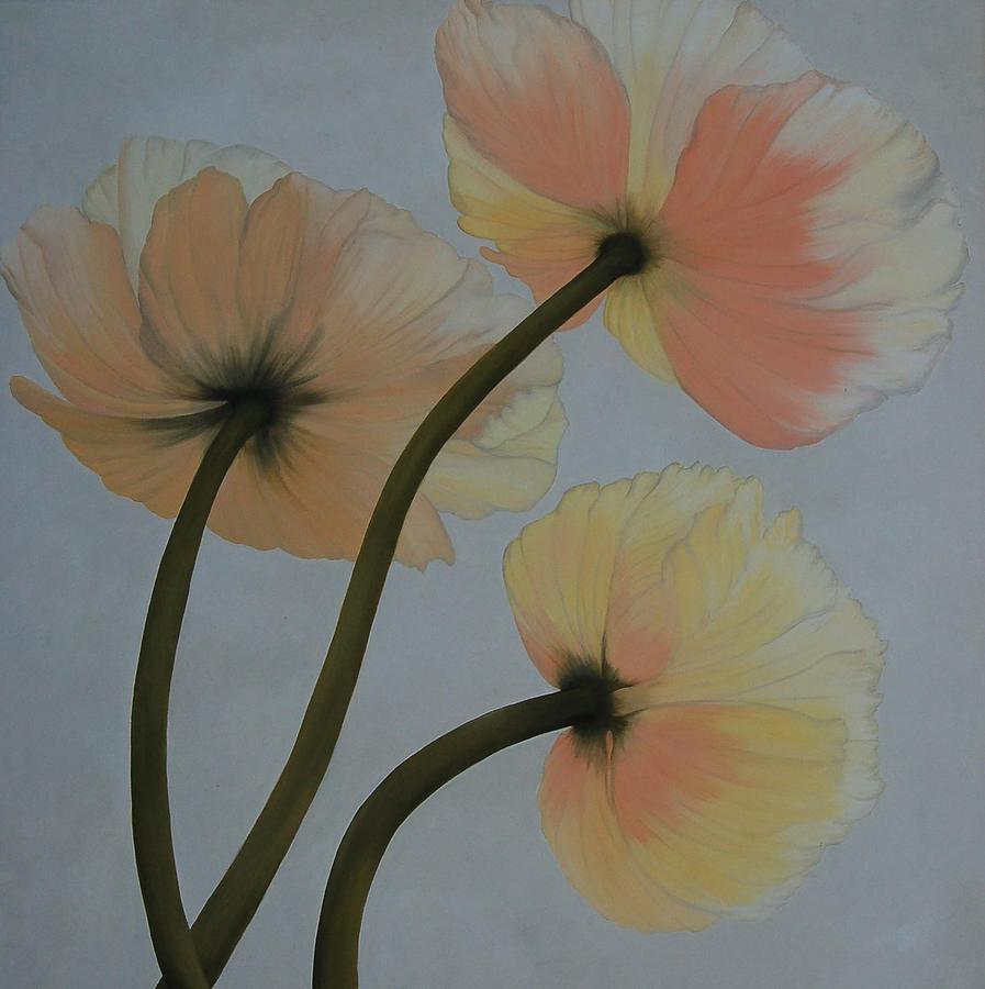 Poppy Painting - Poppy Ice by Karen Dukes