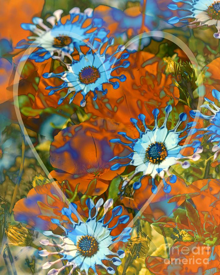 Floral Digital Art - Poppy Love by Chuck Brittenham