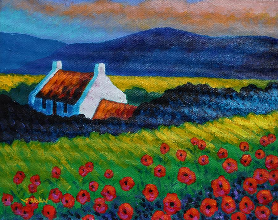 Landscape Painting - Poppy Meadow by John  Nolan