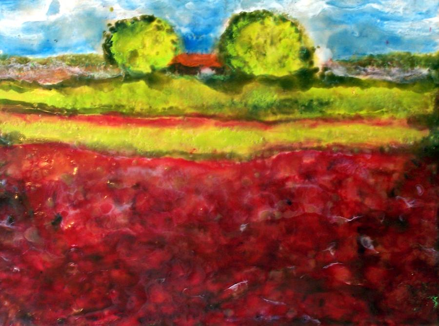 Landscape Painting - Poppy Meadow by Karla Phlypo-Price