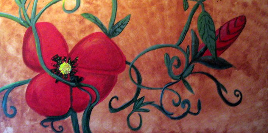 Poppy Painting - Poppy One by Rebecca Merola