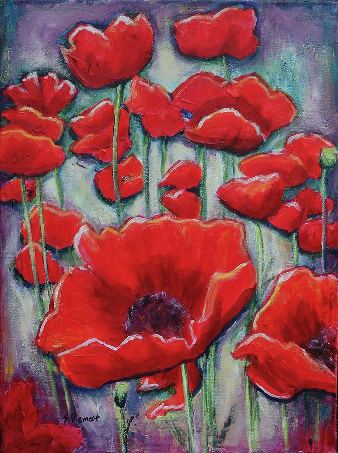Poppy Pageant II Painting