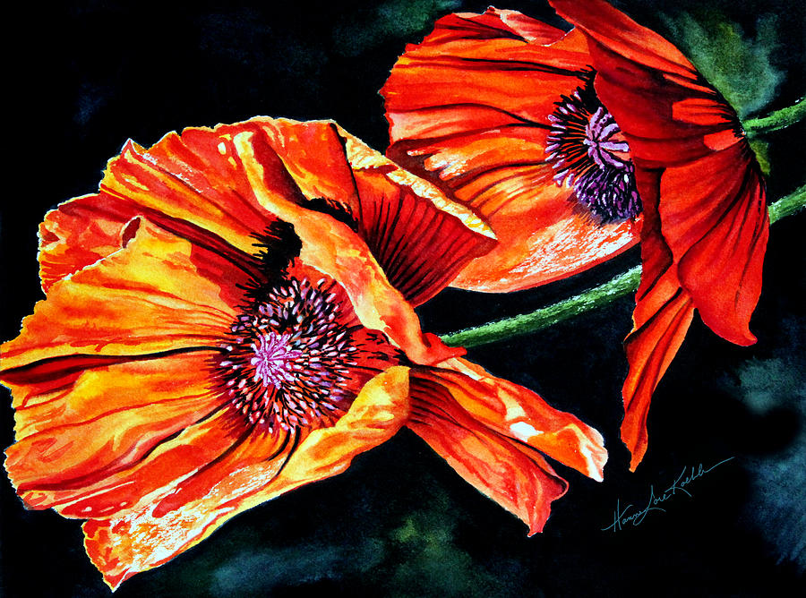 Poppy Passion Painting