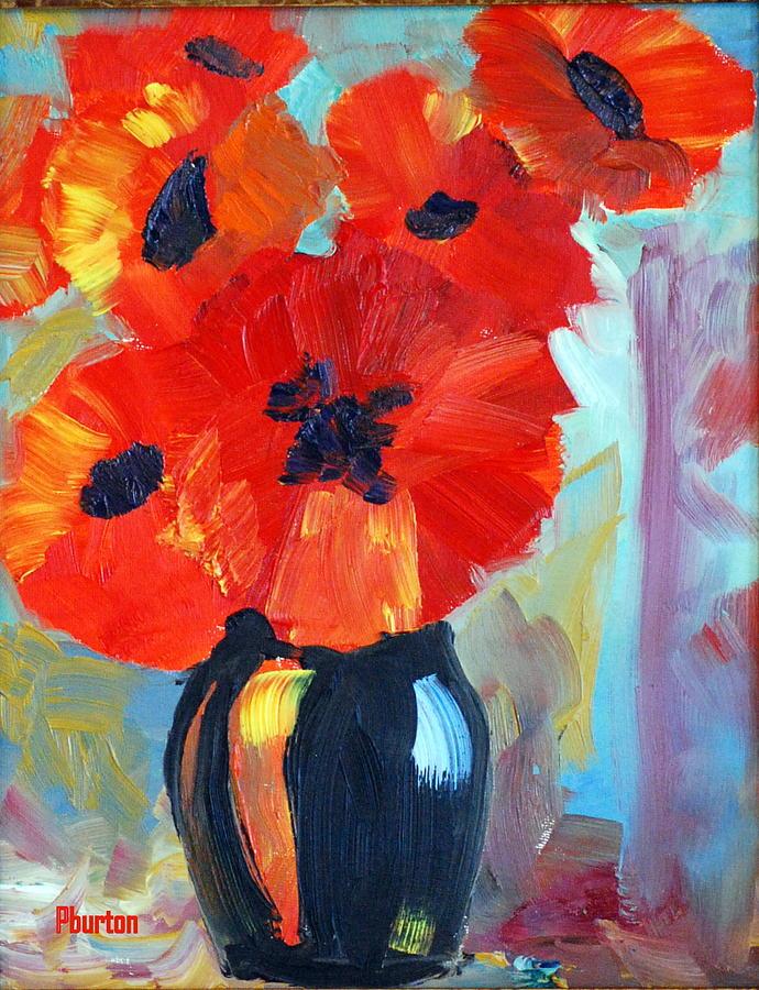 Poppy Painting - Poppy by Phil Burton